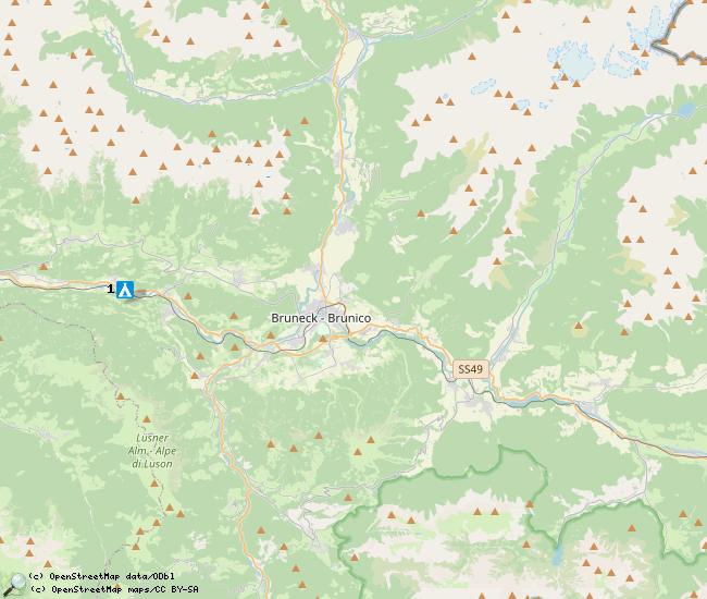 Belangrijke locaties voor het Pustertal